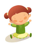 Happy girl. Portrait of happy girl is smiling Royalty Free Stock Photography