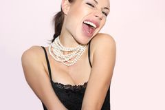 Happy girl. Expression of joy. happy girl stock photography