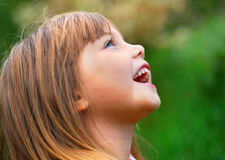 Happy girl. Portrait of a little cute laughing girl Royalty Free Stock Images