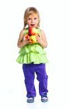 Happy girl with apples Royalty Free Stock Photo