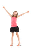 Happy girl with arms outstretched Stock Photography