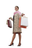 Happy girl with bags Stock Photography