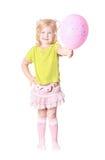 Happy girl with balloon Stock Image