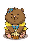 Happy girl bear. Royalty Free Stock Image
