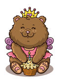 Happy girl bear. royalty free illustration