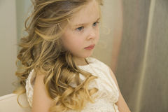 Happy girl at Beauty salon Stock Photography