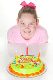 Happy girl on birthday Royalty Free Stock Images