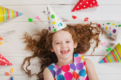 Happy girl in birthday party