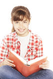 Happy girl with book Stock Photo