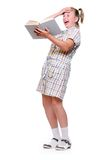 Happy girl with books. Royalty Free Stock Photos