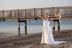 Happy girl bride Stock Photography