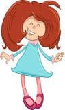 Happy girl cartoon character Royalty Free Stock Photography