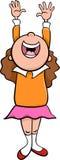 Happy girl cartoon illustration Royalty Free Stock Image