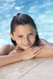 Happy Girl Child In Swimming Pool royalty free stock photos