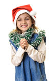 Happy girl at Chrismas Stock Photography