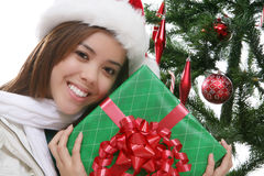 Happy girl at Christmas Royalty Free Stock Image
