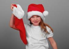 Happy Girl at Christmas Stock Image