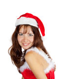 Happy girl in  christmas costume Royalty Free Stock Image