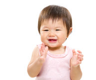 Happy girl clapping hand Royalty Free Stock Photos