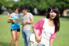 Happy girl College student Stock Images