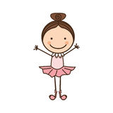 happy girl dancing icon Stock Images