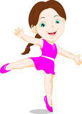 Happy girl dancing. Vector illustration of happy girl dancing Stock Image