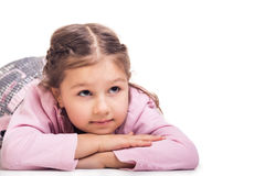 Happy girl daydreaming Royalty Free Stock Photos
