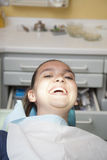 Happy girl after dental checkup Royalty Free Stock Photo