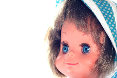 Happy girl doll face #3 Stock Image