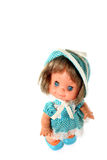 Happy girl doll standing Stock Images