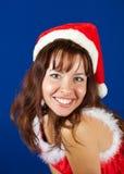 Happy girl dressed like Snow Maiden Stock Photo
