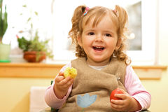 Happy girl with easter egg Royalty Free Stock Photography
