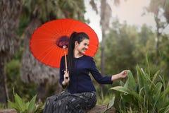 Happy girl enjoying the Nature Royalty Free Stock Photo