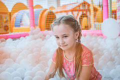 Happy girl enjoying in the Playground Stock Photography