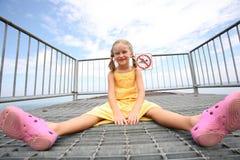 Happy girl enjoys summer day. Stock Photo