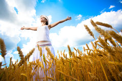 Happy Girl is enjoys summer day Stock Image