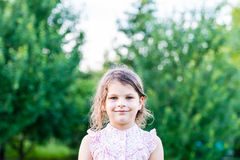 Happy girl excited. Young girl smiling very happy surprised  bei Stock Images