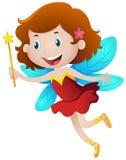 Happy girl in fairy costume Stock Photos