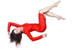 Happy girl falls. Royalty Free Stock Photo