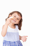 Happy girl with Feast cookies Royalty Free Stock Photography