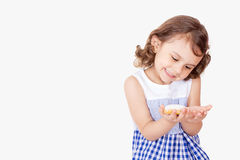 Happy girl with Feast cookies Royalty Free Stock Image