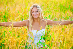 A happy girl on a fine summer day Royalty Free Stock Photo