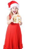 Happy girl gift Stock Photo