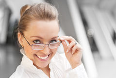 Happy girl with glasses Stock Photography