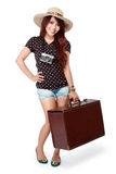 Happy girl going on vacation Royalty Free Stock Images