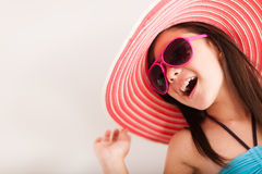 Happy girl going on vacations Royalty Free Stock Photo