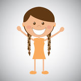 Happy girl. On gray background Royalty Free Stock Images