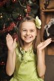 Happy girl in green dress Royalty Free Stock Photo