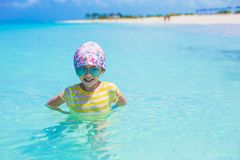 Happy girl have fun at the sea during summer Royalty Free Stock Images