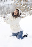 Happy girl having fun outdoor Royalty Free Stock Images